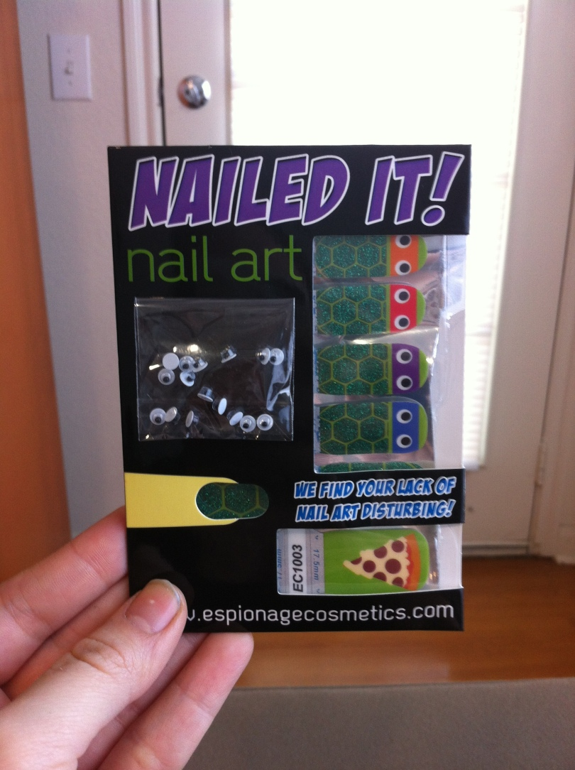 Espionage Cosmetics Ninja Turtle Nails!