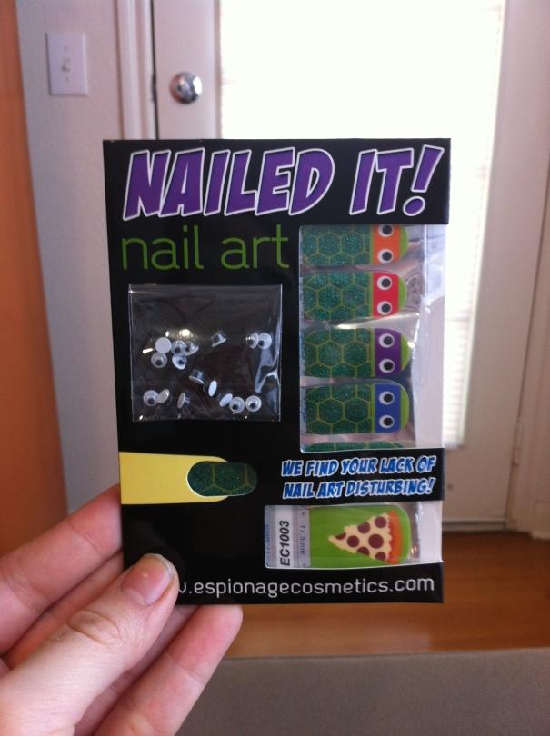 Espionage Cosmetics Ninja Turtle Nails!