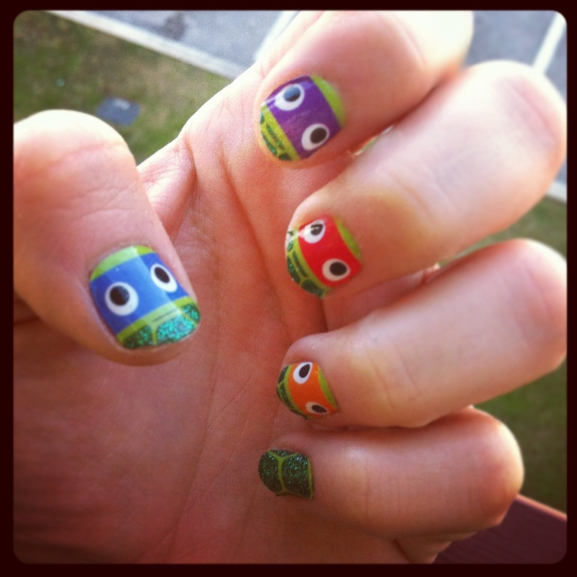 Enjoy the fact you have the most radical nails in town.